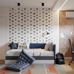 Квартира на Сиреневом бульваре: Детские комнаты в . Автор – Goroh бюро, Модерн