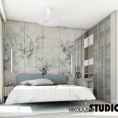 MINIMALIZM Minimalistyczna sypialnia od MIKOŁAJSKAstudio Minimalistyczny