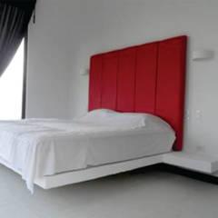 Construcción casa campestre - Villeta: Habitaciones de estilo  por NetCom Construcciones, Moderno