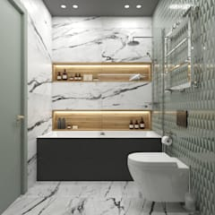 «Harmony»: Ванные комнаты в . Автор – Wide Design Group, Скандинавский