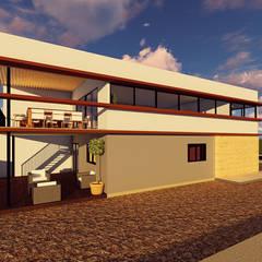 منازل التراس تنفيذ Contreras Arquitecto , تبسيطي