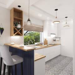 Projekt Kuchni w Domu (Nowoczesny Styl): styl , w kategorii Małe kuchnie zaprojektowany przez Senkoart Interior Design,Nowoczesny