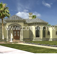 Casas unifamiliares de estilo  por CONDER S.A. de C.V.,