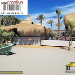 Tropical style bars & clubs by PERGOLAS LUXURY Tropical