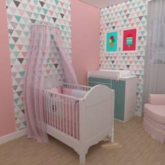 Dormitorios de bebé de estilo  por Designer de Interiores - Gabriela Soares, Moderno