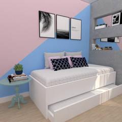 Cuartos pequeños  de estilo  por Designer de Interiores - Gabriela Soares,