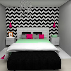Small bedroom by Designer de Interiores - Gabriela Soares,