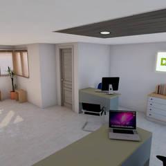 OFICINA DE DACAT: Estudios y despachos de estilo  por DACAT, Moderno