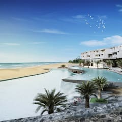 ออกแบบโรงแรม:  โรงแรม โดย LEK ARCHITECT ,