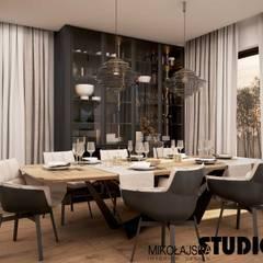 Wysmakowany dom w Pajęcznie : styl , w kategorii Jadalnia zaprojektowany przez MIKOŁAJSKAstudio ,
