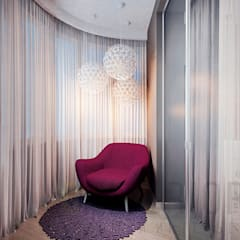 Дизайн-проект 4-комнатной квартиры: балконы в . Автор – Дизайн студия 'Хороший интерьер',