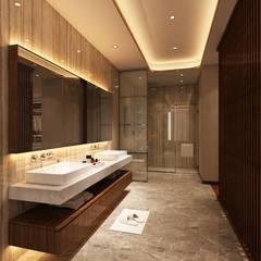 Suite Penthouse Geneva: Casas de banho  por Alpha Details,