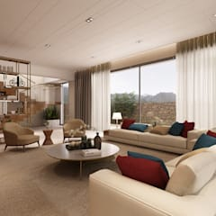 Sala de estar - Moradia em Felgueiras: Salas de estar  por Alpha Details,Moderno