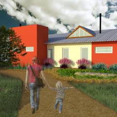 Projekty,  Podwórko zaprojektowane przez Bendito Verde Paisagismo,