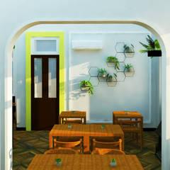 HIVE Restaurante: Espaços gastronômicos  por Bendito Verde Paisagismo,