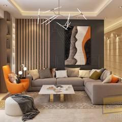 Living room:  غرفة المعيشة تنفيذ Archeffect, حداثي