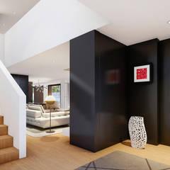 White Clouds House Corredores, halls e escadas modernos por SAME - Studio Architects Moderno
