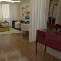 Região Centro: Apartamento arrojado Corredores, halls e escadas modernos por Casactiva Interiores Moderno