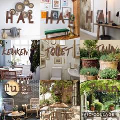 Nieuw thuis in de Franse Ardennen:  Gang en hal door Vonk interieur & design,