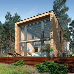 od THULE Blockhaus GmbH - Ihr Fertigbausatz für ein Holzhaus Eklektyczny