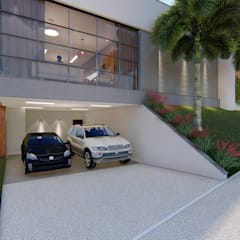 Double Garage by Cor & Vida Arquitetura e Interiores, Modern Concrete