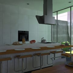 VIVIENDA UNIFAMILIAR: Cocinas de estilo  por TECTONICA STUDIO SAC, Moderno