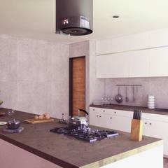 CASA C2: Cocinas equipadas de estilo  por TECTONICA STUDIO SAC,