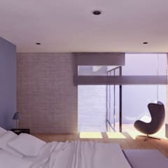 CASA C2 Dormitorios de estilo moderno de TECTONICA STUDIO SAC Moderno