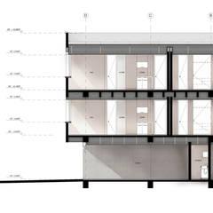 PROYECTO DE VIVIENDA MULTIFAMILIAR / APARTAESTUDIO: Casas multifamiliares de estilo  por UN estudio de Arquitectura, Minimalista