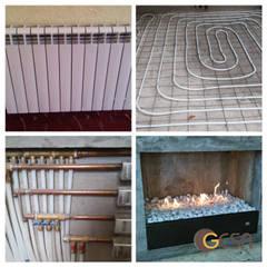 Chimeneas y Calefacción : Pisos de estilo  por GESA Calefaccion y Chimeneas, Minimalista