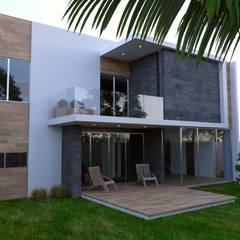 Teras oleh URITA arquitectos, Tropis