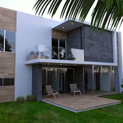 Tropical style balcony, porch & terrace by URITA arquitectos Tropical