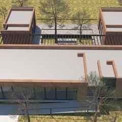 Cabaña - CAV: Casas de campo de estilo  por CG-Arquitecto, Moderno