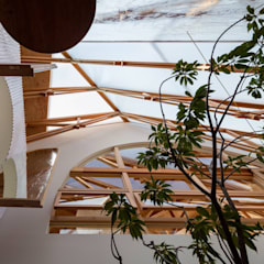 Stairs by FUMIASO ARCHITECT & ASSOCIATES/ 阿曽芙実建築設計事務所, Industrial Wood Wood effect