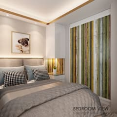 Canberra Crescent:  Small bedroom by Swish Design Works,Modern Plywood