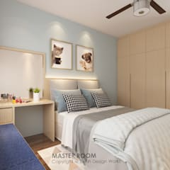 Canberra Crescent:  Small bedroom by Swish Design Works,