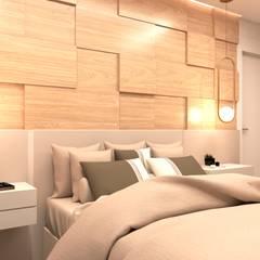 APÊ MAR: Quartos  por STUDIO KANDO,Moderno Madeira Efeito de madeira