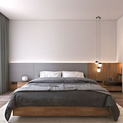 غرفة نوم تنفيذ StudioMadera sl,
