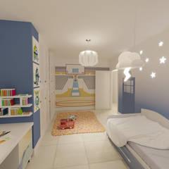 غرفة نوم أولاد تنفيذ INARQ Espacio,