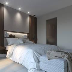 DISEÑO DE VIVIENDA EN TENERIFE : Dormitorios de estilo  de INARQ Espacio, Moderno