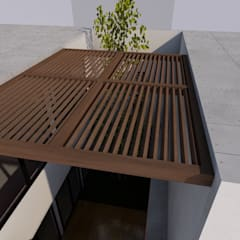 Flat roof by palabeach, Modern Wood Wood effect