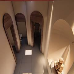CASA SAN LUIS 322: Pasillos y recibidores de estilo  por RUBIO + TOVAR ARQUITECTOS, Ecléctico