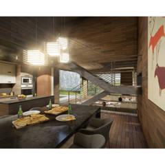 Casa CL: Comedores de estilo  por Zenobia Architecture,