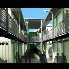 CONTEINERS ARQUITECTURA EN MOVIMIENTO: Casas de estilo  por ELITE ARQUITECTOS,