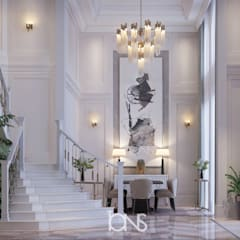 Entryway with Stylish Interiors:  Corridor & hallway by IONS DESIGN, Classic Marble