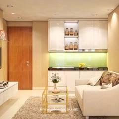Show Unit 2BR Apartment: Ruang Keluarga oleh ADEA Studio,