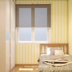 Show Unit 2BR Apartment: Kamar tidur kecil oleh ADEA Studio,
