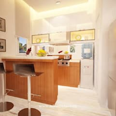 Private Residence: Dapur built in oleh ADEA Studio, Modern Granit