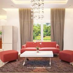 Private Residence: Ruang Keluarga oleh ADEA Studio,