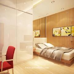 Private Residence: Kamar tidur kecil oleh ADEA Studio,